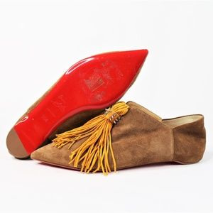 Christian Louboutin Red Bottom Suede Tassel Loafer